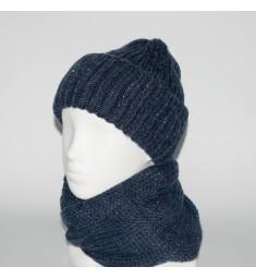 Женский комплект шапка + снуд (код 00179)