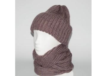 Женский комплект шапка + снуд (код 00181)