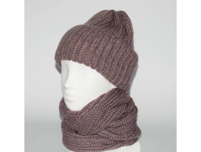 Фото Женский комплект шапка + снуд (код 00181) в интернет-магазине Romax