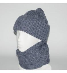Женский комплект шапка + снуд (код 00182)