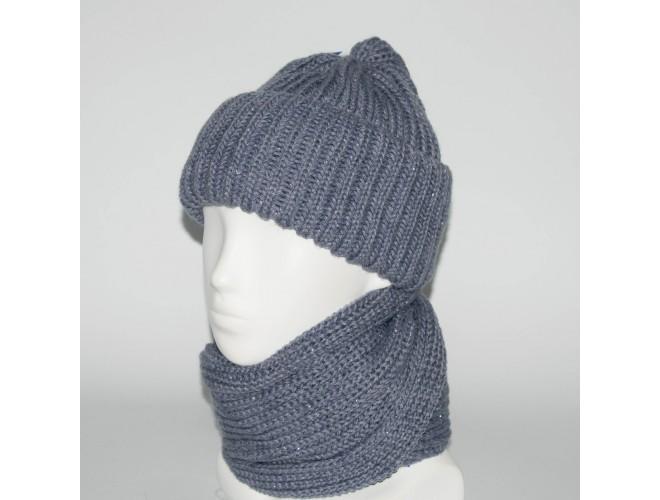 Фото Женский комплект шапка + снуд (код 00182) в интернет-магазине Romax