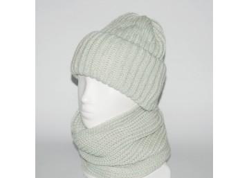 Женский комплект шапка + снуд (код 00183)
