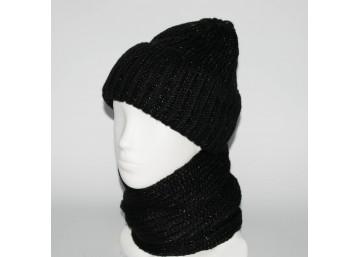 Женский комплект шапка + снуд (код 00184)
