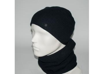 Мужской комплект шапка + бафф (код 00450)